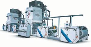 Универсальный ламинатор для изготовления трехслойных материалов Triplex Combi. Ширина рулона 1100–1600 мм. Диаметр 850, 1000 Скорость до 400 м/мин